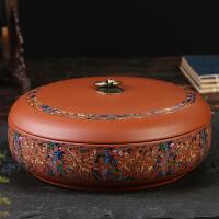 紫砂陶瓷茶叶罐 大号密封罐存醒茶饼罐白茶普洱茶饼茶叶包装盒子