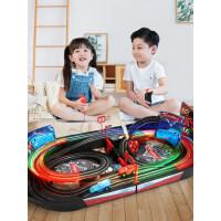 百思奇男孩轨道车赛车闪电麦昆玩具儿童遥控汽车电动小火车总动员