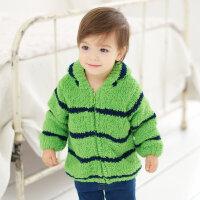 戴维贝拉童装秋冬季男女宝宝拉链外套 婴儿雪尼尔外套139-N