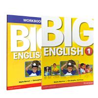 培生英文原版进口 朗文少儿美语旗舰课程 Big English 第一册学生包含练习册等 小学英语 CLIL学习法 全球EFL大师 Mario主编