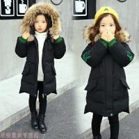 冬季女童棉衣2018新款 韩版加厚冬装棉袄外套 儿童中长款洋气羽绒秋冬新款