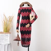 29 秋季新款时尚气质蕾丝连衣裙韩版长袖修身百搭中长裙