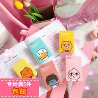 韩国可爱卡通小动物两幅装隐形眼镜伴侣盒创意小清新美瞳护理盒