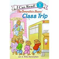 英文原版Berenstain Bears' Class Trip 贝贝熊 I Can Read 系列幼儿绘本书