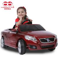 快乐年华儿童电动汽车四轮可坐遥控车沃尔沃音乐电动车宝宝玩具