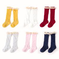 宝宝袜子夏季薄款女童中筒袜新款婴儿针织袜花边夏装