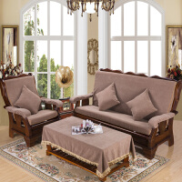 实木沙发垫 单人三人座红木沙发坐垫联邦春秋椅垫带靠背木头 浅棕色 玉米粒棕色