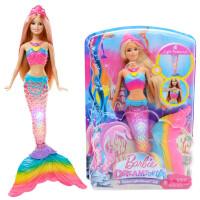巴比娃娃彩虹蝴蝶长发公主玩具套装女孩生日大礼盒换装搭配FRB12 款式