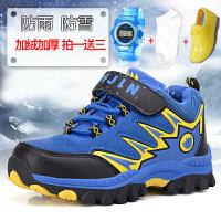 冬季男童鞋2017新款男童棉鞋儿童加毛运动男童大棉鞋大童棉鞋防水