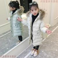 女童棉衣2018新款儿童冬装中长款外套加厚羽绒中大童洋气棉袄
