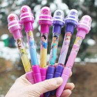 正品迪士尼泡泡笔儿童滚轮印章学习文具用品4合1多功能笔