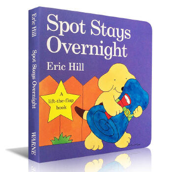 小玻系列翻翻纸板童书 Spot Stays Overnight 少儿原版图书