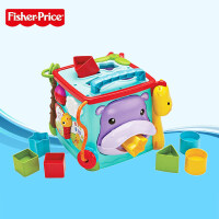 费雪Fisher Price探索学习六面盒形状配对宝宝早教玩具六面屋儿童节礼物 探索学习六面盒CMY28
