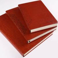 超大硬皮笔记本文具本子加厚特大号a4简约复古商务记事本办公定制