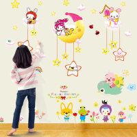 创意卡通墙贴纸自粘卧室温馨装饰温馨儿童房墙纸墙贴量身高贴贴纸