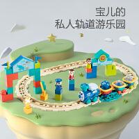 儿童电动轨道车拼装模型小火车玩具套装带灯光男孩3-5-6岁 官方标配