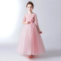 女童公主裙蓬蓬纱儿童走秀晚礼服小主持人钢琴表演服小花童婚纱裙