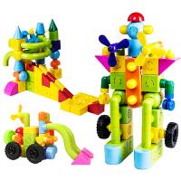 磁性水管道积木塑料拼装插男女宝宝1-2-3-6周岁3D创意玩具