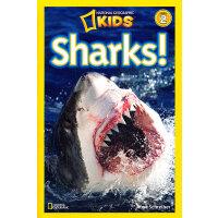 National Geographic Readers, Level 2: Sharks 美国《国家地理》杂志-儿童科
