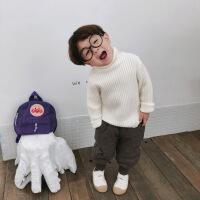 儿童高领毛衣 女童棉针织衫男童秋冬新款打底衫宝宝毛线衣