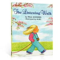 英文原版进口正版童书 The Listening Walk 安静去散步 名家Aliki 吴敏兰绘本123 第85本 儿