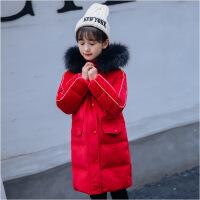 2018新款冬季新款韩版儿童金丝绒羽绒服女童中长款加厚冬装外套