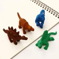 一正创意卡通橡皮擦恐龙动物玩具学生用橡皮幼儿园文具用品小奖品