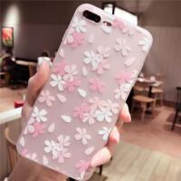 樱花苹果6手机壳iphone7软硅胶套6s全包防摔8plus潮女款唯美个性x