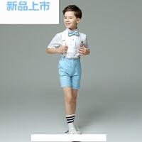 男童礼服夏模特走秀短袖小花童礼服男宝生日舞蹈演出服儿童礼服男