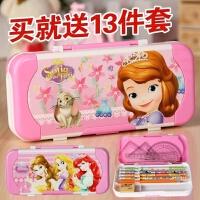儿童文具盒女韩国创意可爱公主三层10岁多功能小学生铅笔盒男笔袋