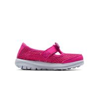 斯凯奇女童鞋新款婴童休闲鞋网面魔术贴公主儿童运动鞋 664050N