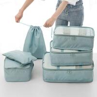 旅行收纳袋套装行李箱衣服收纳整理袋旅游鞋子衣物内衣收纳包