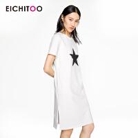 2018爱居兔夏季女装简约纯色短袖T恤