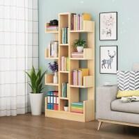 实木书架落地简约现代全实木客厅转角多层置物架学生卧室书柜创意