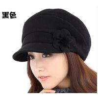 秋冬天韩版潮时尚显瘦脸女帽 新款加厚羊毛贝雷女帽