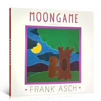 全店满300减100】进口英文原版绘本 Moongame 平装 月亮捉迷藏 儿童图画书 Frank Asch 法兰克艾许