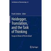 【预订】Heidegger, Translation, and the Task of Thinking: