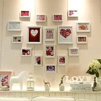 结婚礼物心形照片墙相框墙相片墙贴纸组合夹子悬挂无痕钉网格