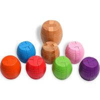 孔明锁 酒桶 古典儿童玩具解锁木制玩具榉木酒桶