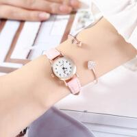 幻时HUANS手表时尚学生女士手表女款细带时装表数字面皮带手表