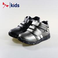 红蜻蜓童鞋男童小中童魔术贴条纹运动鞋棉鞋