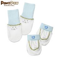【3件3折 到手价:47】Pawinpaw卡通小熊童装男女宝宝手脚套新生儿护脚套装纯棉