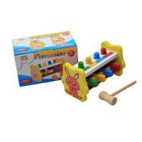 儿童动物敲球台宝宝打桩台敲打木制玩具0-3岁