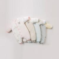 【夹棉加厚】davebella戴维贝拉冬新款宝宝婴幼儿连体爬服DBZ9299