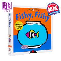 【中商原版】Fishy, Fishy 鱼游记 A Changing Picture Book 变变书益智游戏书 低幼英语