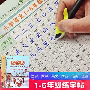 新部编版1-6年级教材同步生字练字帖儿童写字贴练字帖儿童凹槽楷书小学生语文练字本