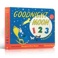 英文原版绘本 Goodnight Moon 123 晚安月亮123 儿童启蒙1-2-3-4-5岁数字入门数数纸板书 吴