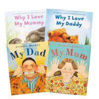 英文原版绘本 温馨亲情4本why I love My mummy daddy mymum My dad 我爸我妈 幼儿