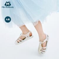 【1件5折价:100】迷你巴拉巴拉女童凉鞋2019夏新款童鞋宝宝果冻鞋夏季儿童包头鞋子