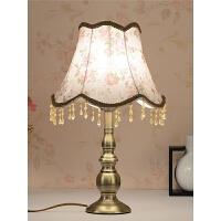 现代简约家用卧室床头灯客厅触摸创意田园温馨可调光台灯